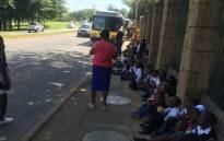 School children were left stranded outside of Johannesburg Zoo amid a strike by workers over salaries on 4 March 2016. Picture: Thando Kubheka/EWN.