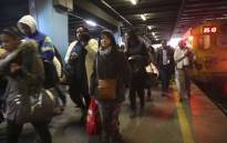Journey's end: Metrorail commuters end their journey at the Cape Town train station. Picture: Cindy Archillies/EWN