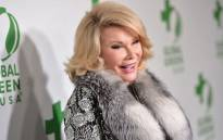 FILE: Comedian Joan Rivers attends Global Green USA's 11th Annual Pre-Oscar party at Avalon on 26 February 2014 in Hollywood, California. Picture: AFP.