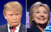 This file photo taken shows a combination of file photos of Republican presidential hopeful Donald Trump and his Democratic rival Hillary Clinton. Picture: AFP.