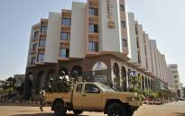Malian troops patrolling outside the Radisson Blu hotel in Bamako a day after the deadly jihadist siege at the luxury hotel. Picture: AFP
