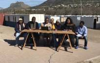 Imizamo Yethu community leaders addressing the media following the attacks on two of their own. Picture: Monique Mortlock/EWN.