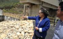 Cape Town Mayor Patricia De Lille during a visit to the Wemmershoek Dam on 15 November 2017. Picture: @PatriciaDeLille/Twitter