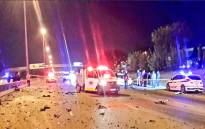 Four people were killed following a collision on the M1 south near the Marlboro off-ramp on Sunday 14 May. Picture: @Netcare911_sa