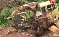A video screengrab of a bus accident in Tanzania where at least 35 people died.