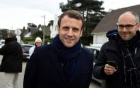 French presidential election candidate for the En Marche ! movement Emmanuel Macron poses for the photograph, on 22 April, 2017, in Le Touquet, northern France, on the eve of the first round of presidential election. Picture: AFP.