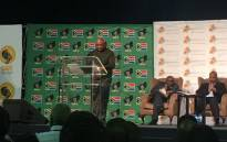 Sipho Pityana delivers the keynote address at the Future of SA conference. Picture: Masa Kekana/EWN