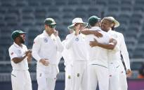 The Proteas celebrate a series win over Australia at the Wanderers in Johannesburg on 3 April 2018. Picture: AFP
