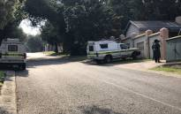 The scene in Garsfontein where two people were murdered in a suspected robbery. Picture: Barry Bateman/EWN