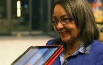 DA's Patricia de Lille spoke at IEC results centre about winning the majority in the Cape Metro. Picture: Anthony Molyneaux/EWN