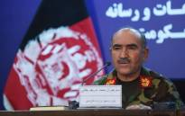 Afghan Army Chief of Staff, General Sharif Yaftali, looks on as he speaks during a press conference in Kabul on 7 June 2018. Picture: AFP