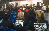 Fans and family at the memorial service for the late jazz legend Hugh Masekela in Alexandra. Picture: Hitekani Magwedze/EWN.