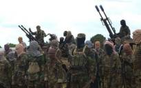 A file picture shows members of Somalia's al Shabaab terrorists group.