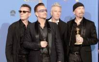FILE: Larry Mullen Jr, Bono, Adam Clayton and The Edge of U2. Picture: AFP.