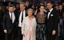 English director Andy Serkis (L), English producer Jonathan Cavendish (2L), his mother Diana Blacker (C), English actress Claire Foy (2R) and Actor Andrew Garfield pose upon arrival at the BFI London Film Festival in London on 4 October 2017. Picture: AFP