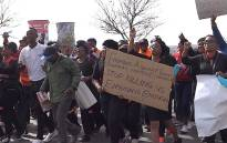 Marchers demonstrate in Soweto to raise awareness on the impact of gender-based violence and to mobilise men to be protectors of women following the recent spate of rape and killing of women in Gauteng. Picture: Louise McAuliffe/EWN.