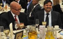 President Jacob Zuma and Atul Gupta. Picture: Kopano Tlape/GCIS