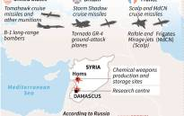 Details on the types of weapons reportedly used by Britain, France and the United States during strikes on 14 April against targets in Syria. Picture: AFP