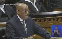President Jacob Zuma in Parliament.