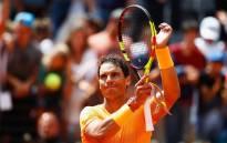 Rafa Nadal reacts after winning her semifinal match against Novak Djokovic. Picture: @InteBNLdItalia/Twitter.