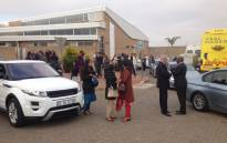 FILE: Guests arrive at the Waterkloof Air Force Base for the Gupta wedding. Picture: Barry Bateman/EWN