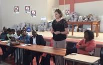 Western Cape Education MEC Debbie Schafer during a visit at school in Crossroads. Picture: Monique Mortlock/EWN.
