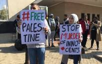 Several organisations are demonstrating outside the US Consulate in Sandton, Johannesburg. Picture: Pelane Phakgadi/EWN.