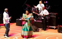 Ringo Madlingozi and Sibongile Khumalo perform at the Live@The Market series of music concerts. Picture: Supplied.