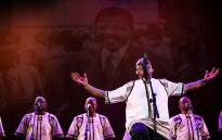 Grammy award-winning group Ladysmith Black Mambazo perform in celebration of Nelson Mandela. Picture: Kayleen Morgan/EWN