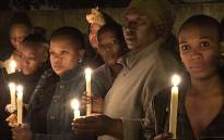 Soweto residents hold a candlelight vigil for murdered Lerato Moloi and other female murder victims. Picture:  Louise McAuliffe/EWN