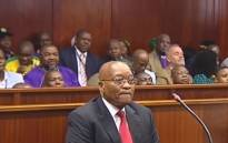 Jacob Zuma in the Durban High Court on 6 April 2018. Picture: Supplied.