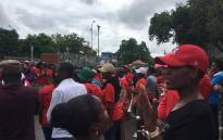 FILE: Nehawu workers protest outside Unisa's Sunnyside campus on Thursday 26 Jan 2017. Picture: Mia Lindeque/EWN.
