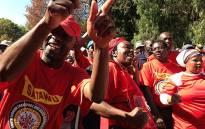 Satawu members strike in Parktown on 7 May 2013. Picture: Lesego Ngobeni/EWN
