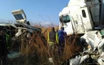 FILE: The scene of an accident between three vehicles on the R541 outside Machadodorp in Mpumalanga, which claimed the lives of several people. Picture: Supplied.