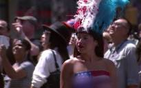 FILE. Painted ladies are posing with tourists for tips in Times Square. Picture: CNN