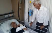 Struggle veteran Ahmed Kathrada is in a stable condition at the JHB Hospital after a blood clotting surgery. Picture: Supplied.