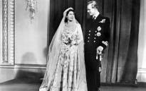 This file photo taken on 20 November, 1947 shows Britain's Princess Elizabeth (future Queen Elizabeth II) and Philip Duke of Edinburgh pose on their wedding day, 20 November 1947 in Buckingham Palace. Picture: AFP.