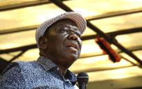 FILE: Zimbabwean opposition and Movement for Democratic Change (MDC) leader Morgan Tsvangirai addresses a crowd of protesters outside the Zimbabwean parliament on 21 November 2017 in Harare. Picture: AFP