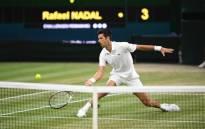 Novak Djokovic in action during the Wimbledon semi-final against great rival Rafael Nadal. Picture: @Wimbledon/Twitter.