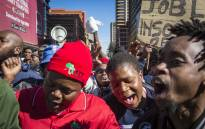 Security personnel marched from Church Square in Tshwane to the Tshwane House to demand the city's Mayor Solly Msimanga to stop outsourcing to security firms. Picture: Thomas Holder/EWN