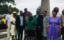 ANC president Cyril Ramaphosa seen with John Langalibalele Dube's family members, as the ANC honoured former presidents on its 106th birthday on 8 January, 2018. Picture: Ziyanda Ngcobo/EWN.