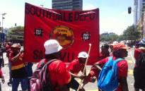 FILE: Samwu members on a strike. Picture: Kgothatso Mogale/EWN