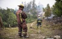 FILE: A volunteer ground crew in clean-up operations in one of Knysna's plantation forests. Picture: Thomas Holder/EWN
