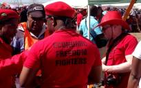 Police arrested four members of Economic Freedom Fighters and opened fire with rubber bullets on demonstrators when they became unruly. Picture: Reinart Toerien/EWN.