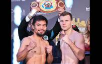 Filipino Manny Pacquiao (L) and Australia's Jeff Horn. Picture: @mannypacquiao