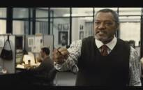A screengrab of Laurence Fishburne from 'Batman v Superman: Dawn of Justice' trailer. Picture: YouTube.