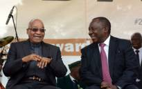 FILE: President Jacob Zuma with Deputy President Cyril Ramaphosa. Picture: GCIS.