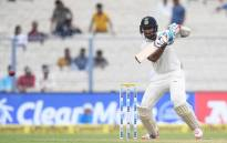 India's Cheteshwar Pujara plays a shot during the second day of the first Test between India and Sri Lanka at the Eden Gardens cricket stadium in Kolkata on 17 November 2017. Picture: AFP