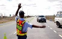 A roadblock in Beaufort West. Picture: Moeketsi Moticoe/EWN