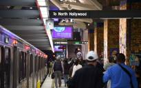 Passengers walk on the platform after exiting a train at the Universal City Metro train station on 6 December 2016 following a tip from overseas about an impending bomb attack. Picture: AFP.